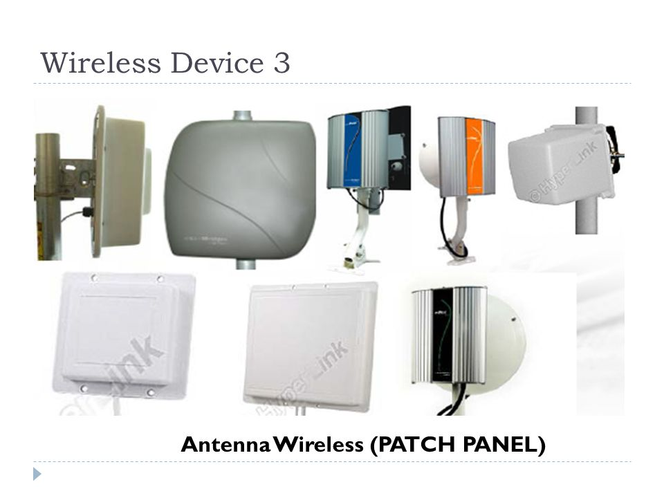 Wireless Device 3 Antenna Wireless (PATCH PANEL)