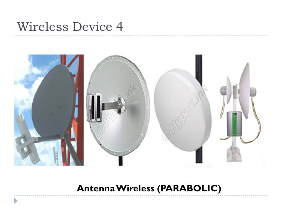 Wireless Device 4 Antenna Wireless (PARABOLIC)