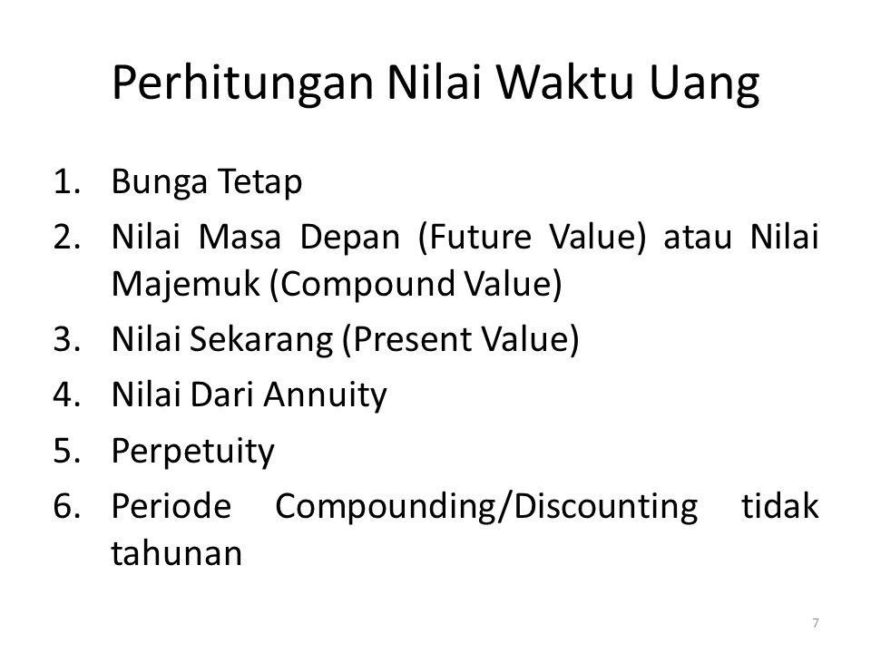 Perhitungan Nilai Waktu Uang