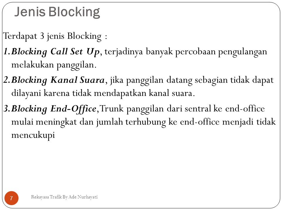 Jenis Blocking