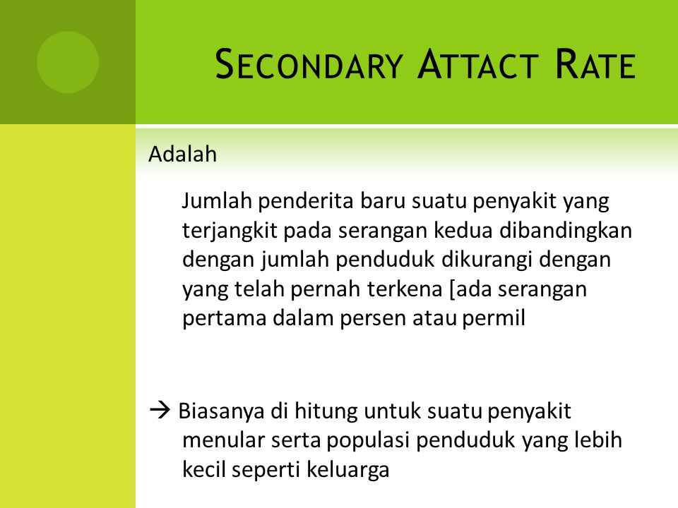 Secondary Attact Rate