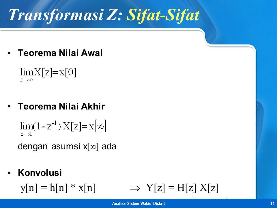 Transformasi Z: Sifat-Sifat