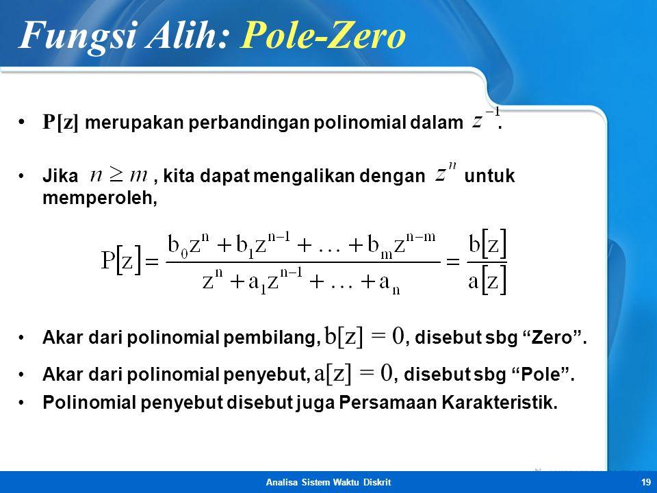 Fungsi Alih: Pole-Zero
