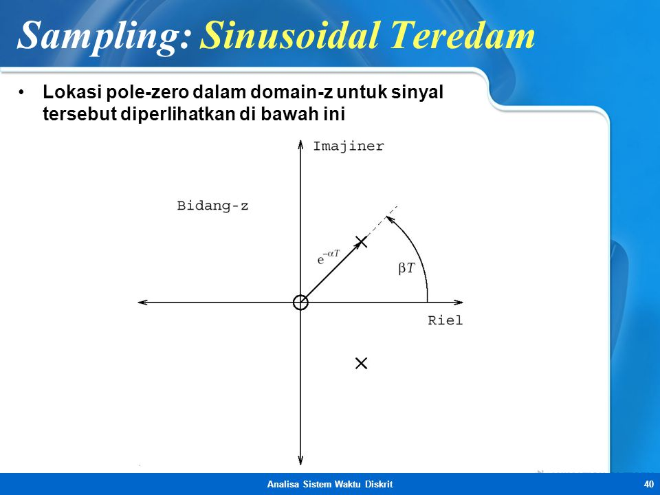 Sampling: Sinusoidal Teredam