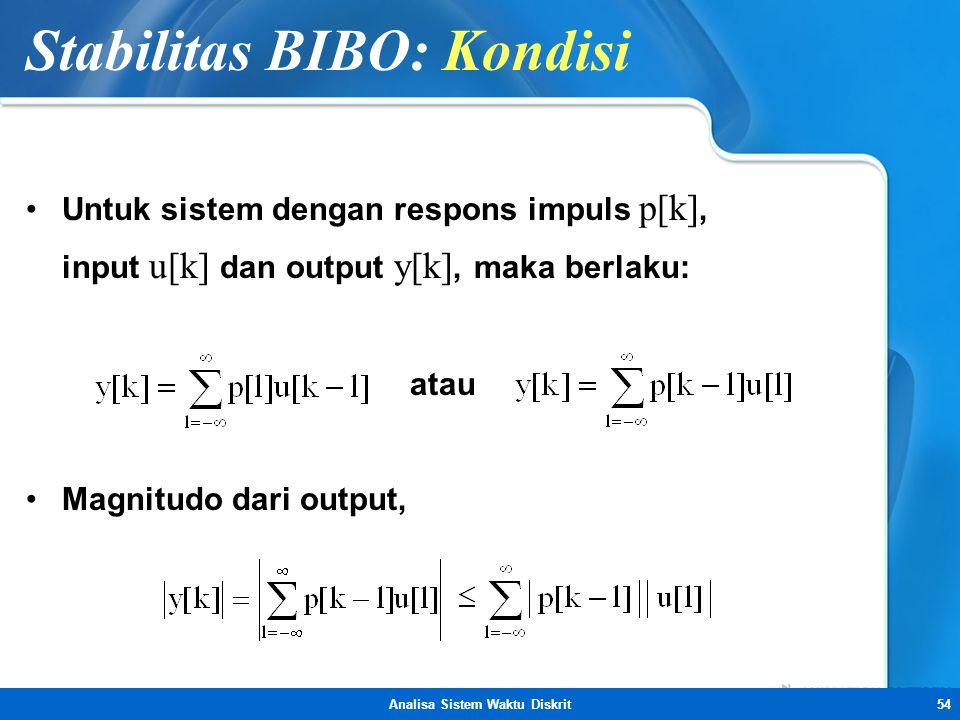 Stabilitas BIBO: Kondisi