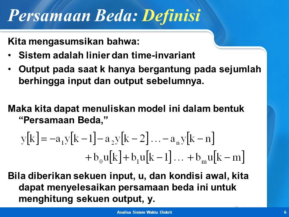 Persamaan Beda: Definisi
