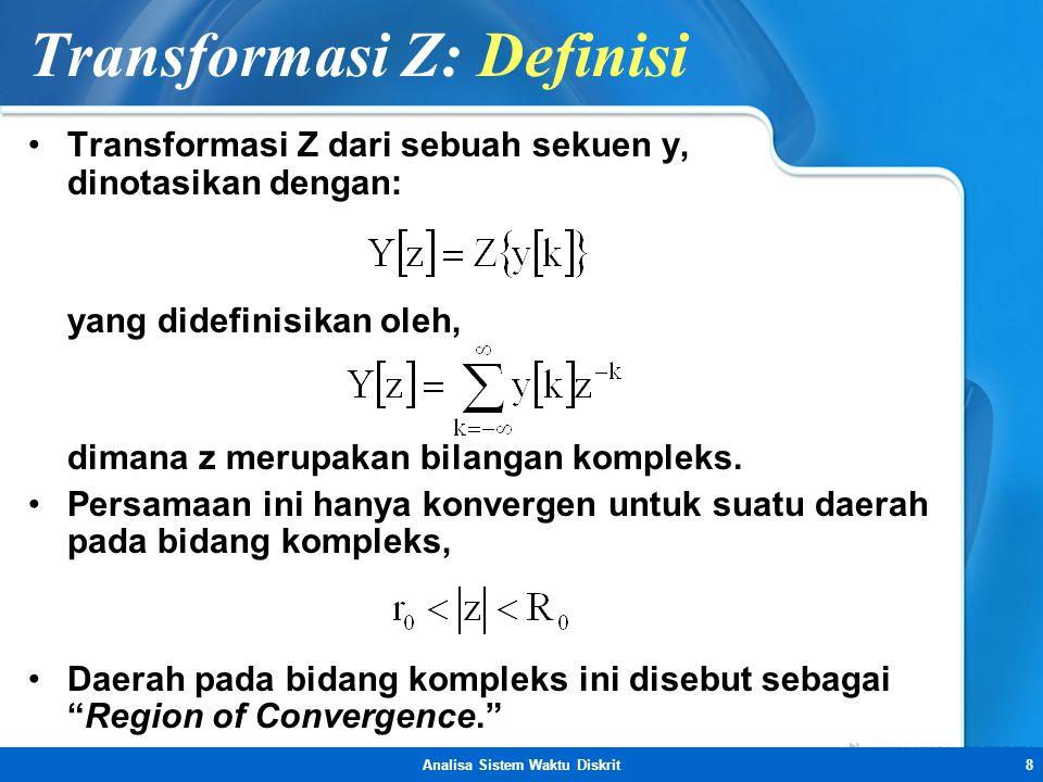 Transformasi Z: Definisi