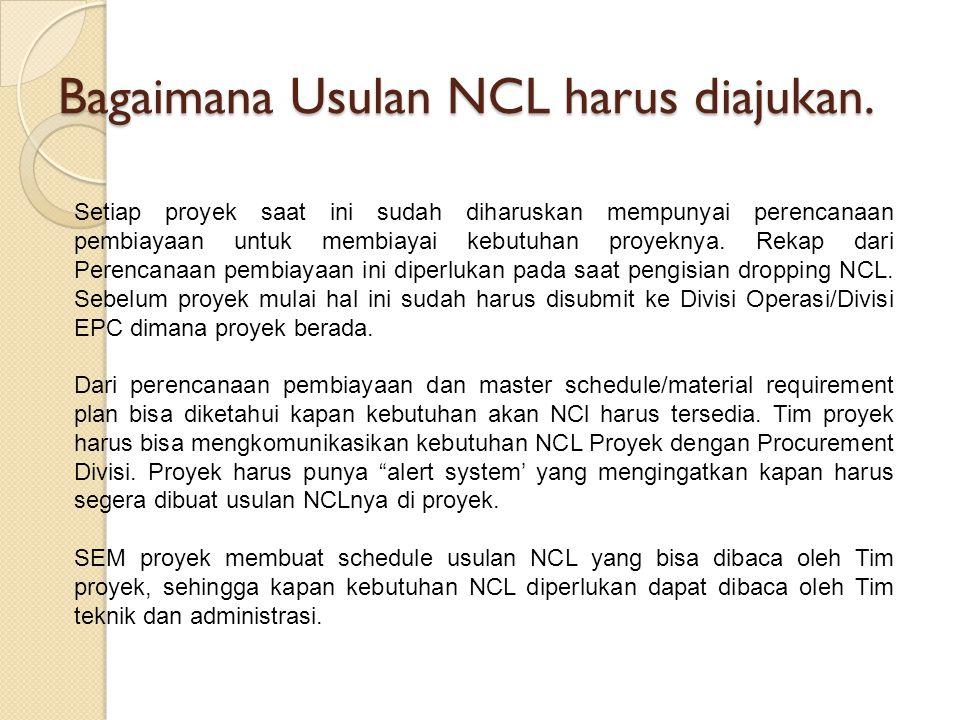 Bagaimana Usulan NCL harus diajukan.