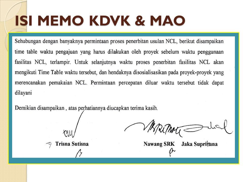 ISI MEMO KDVK & MAO