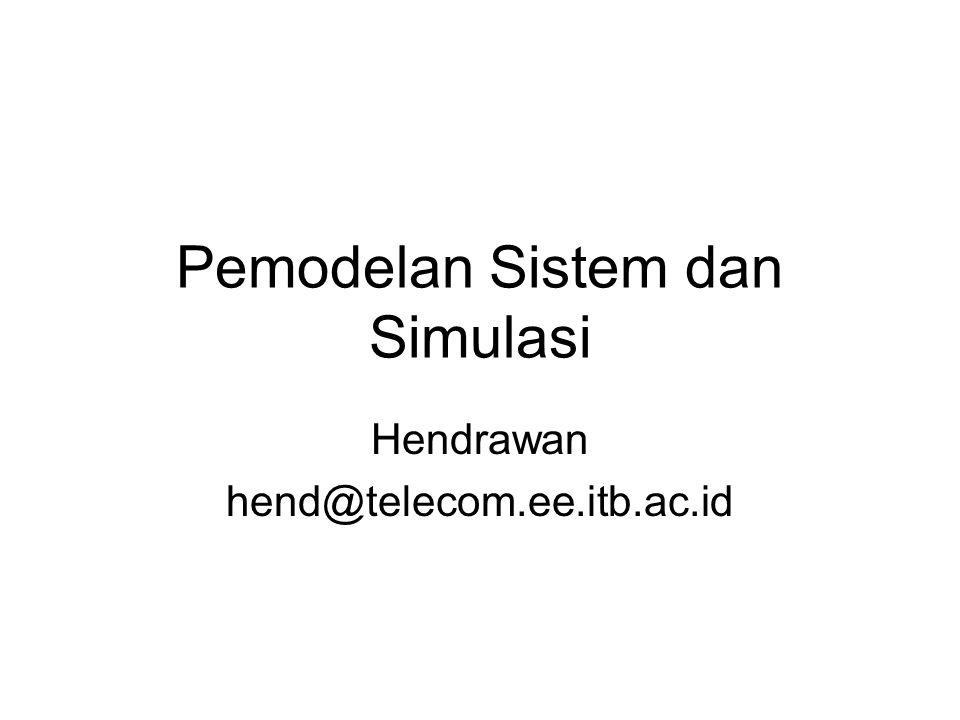 Pemodelan Sistem dan Simulasi