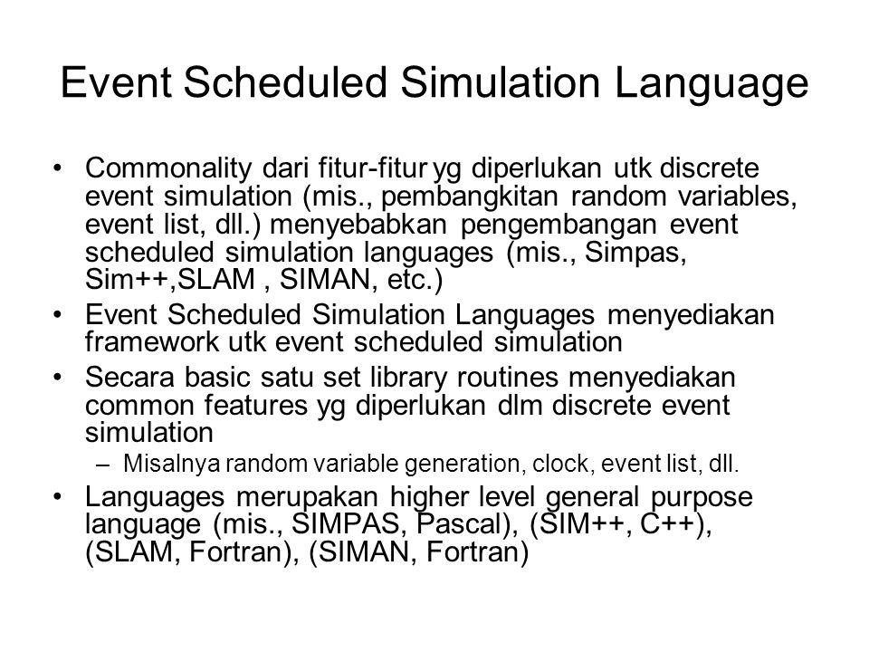 Event Scheduled Simulation Language
