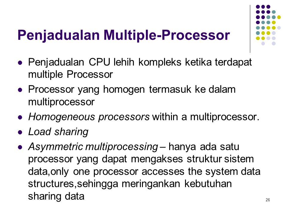 Penjadualan Multiple-Processor
