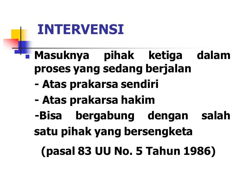 INTERVENSI (pasal 83 UU No. 5 Tahun 1986)