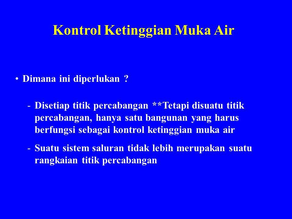 Kontrol Ketinggian Muka Air