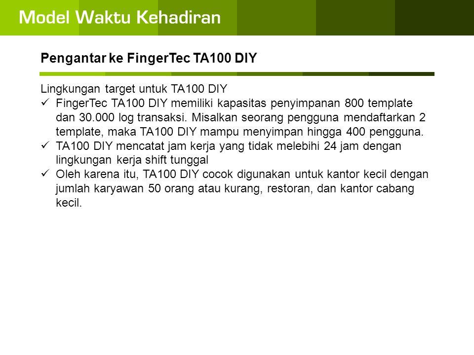 Pengantar ke FingerTec TA100 DIY