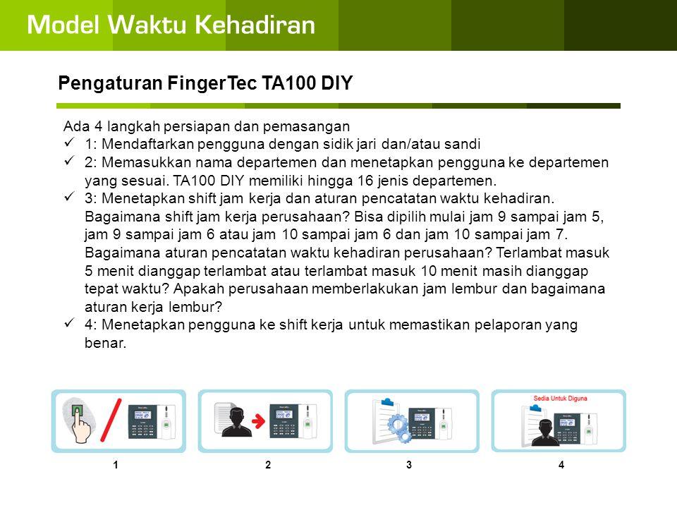 Pengaturan FingerTec TA100 DIY
