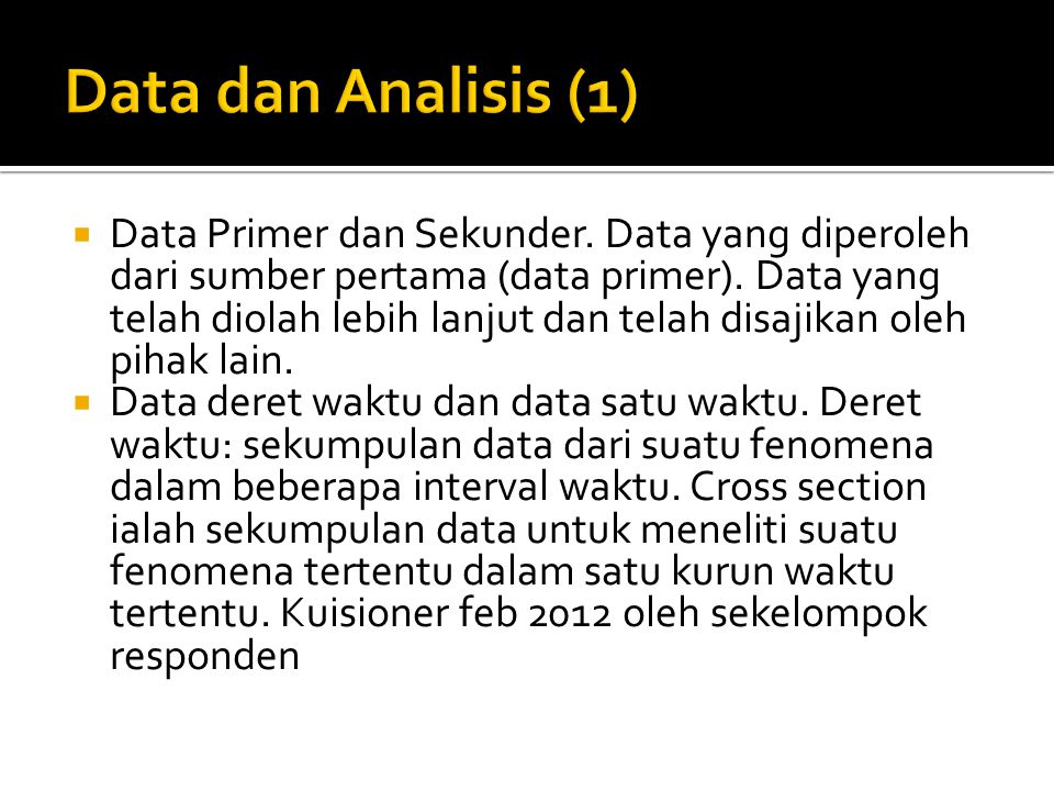 Data dan Analisis (1)