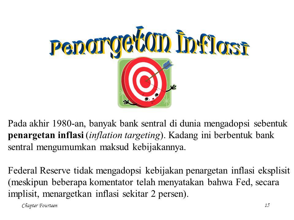 Penargetan Inflasi Pada akhir 1980-an, banyak bank sentral di dunia mengadopsi sebentuk.