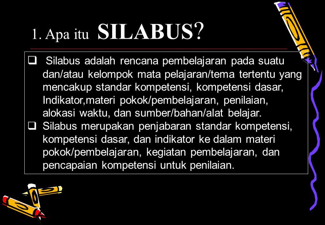 1. Apa itu SILABUS