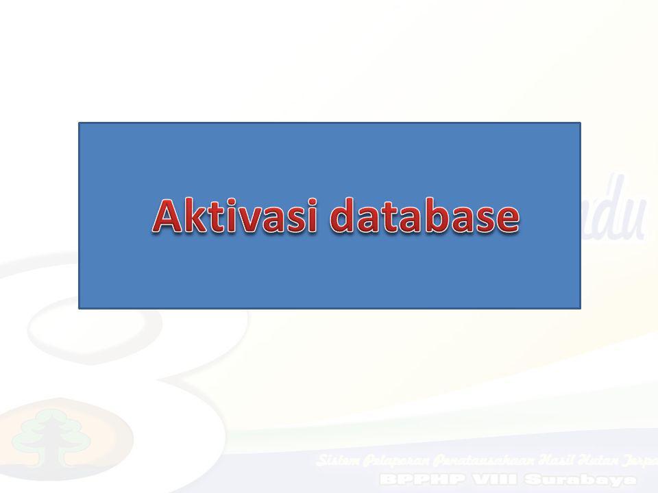 Aktivasi database