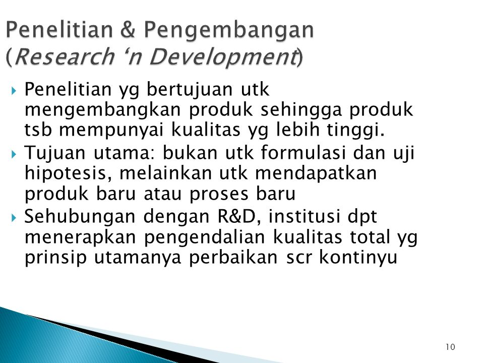 Penelitian & Pengembangan (Research 'n Development)