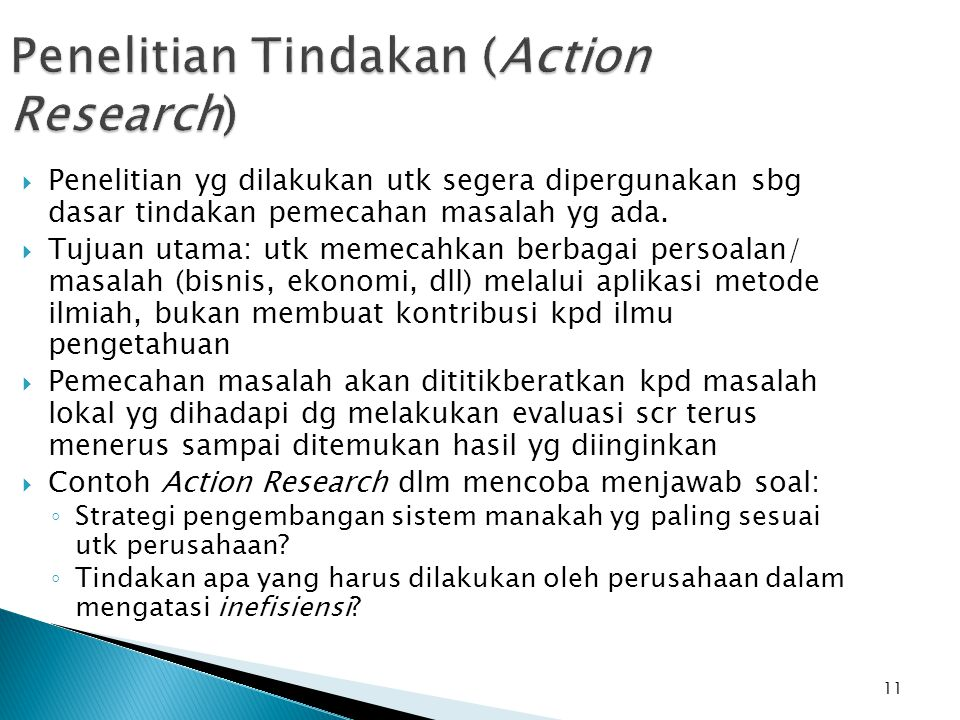 Penelitian Tindakan (Action Research)