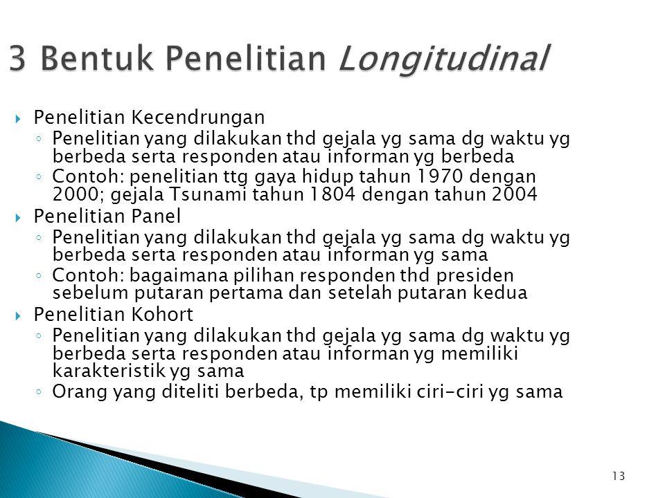 3 Bentuk Penelitian Longitudinal