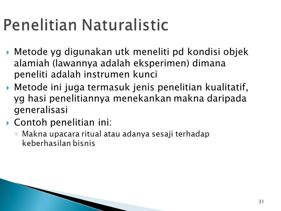 Penelitian Naturalistic