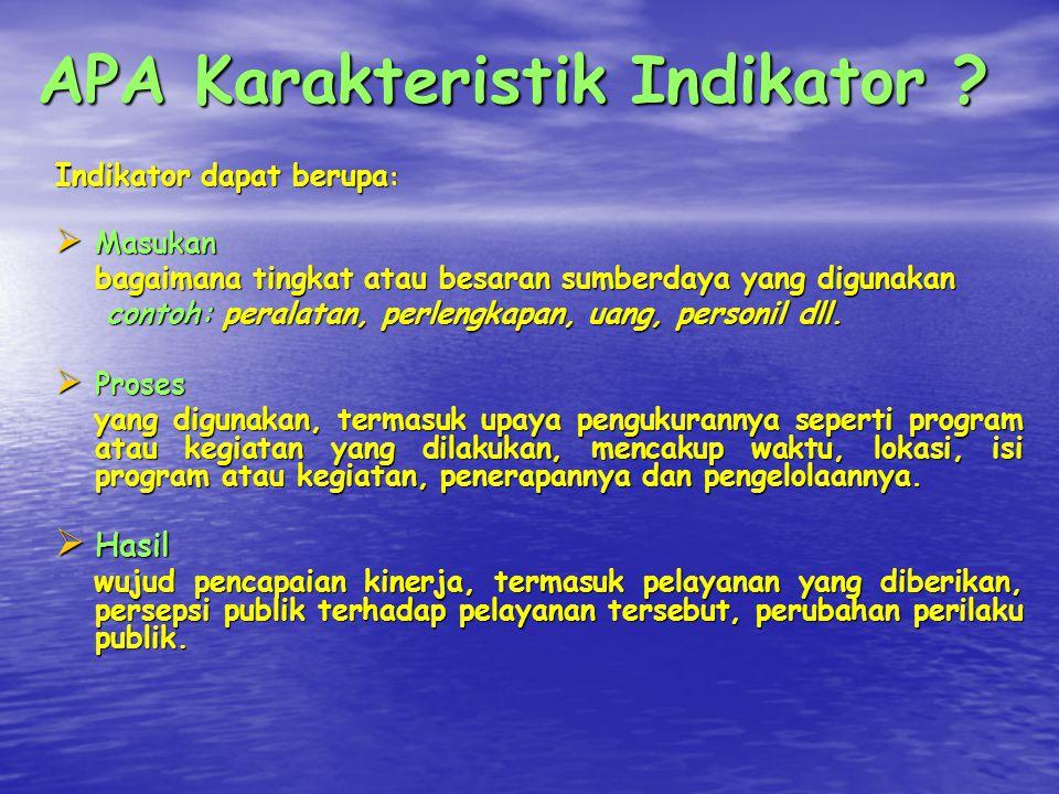 APA Karakteristik Indikator