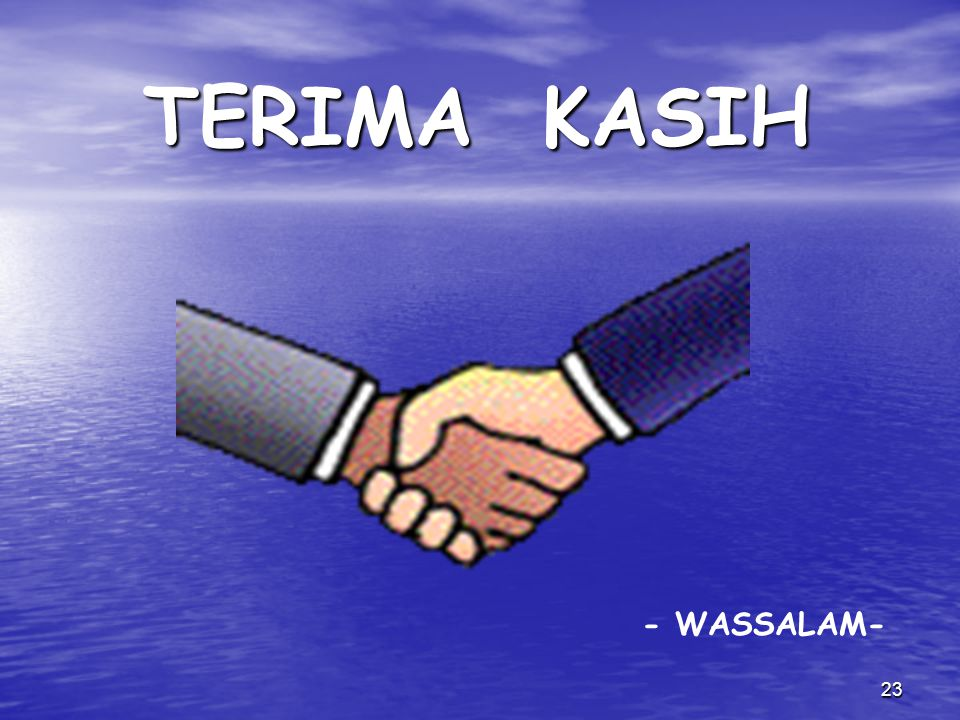 TERIMA KASIH - WASSALAM-