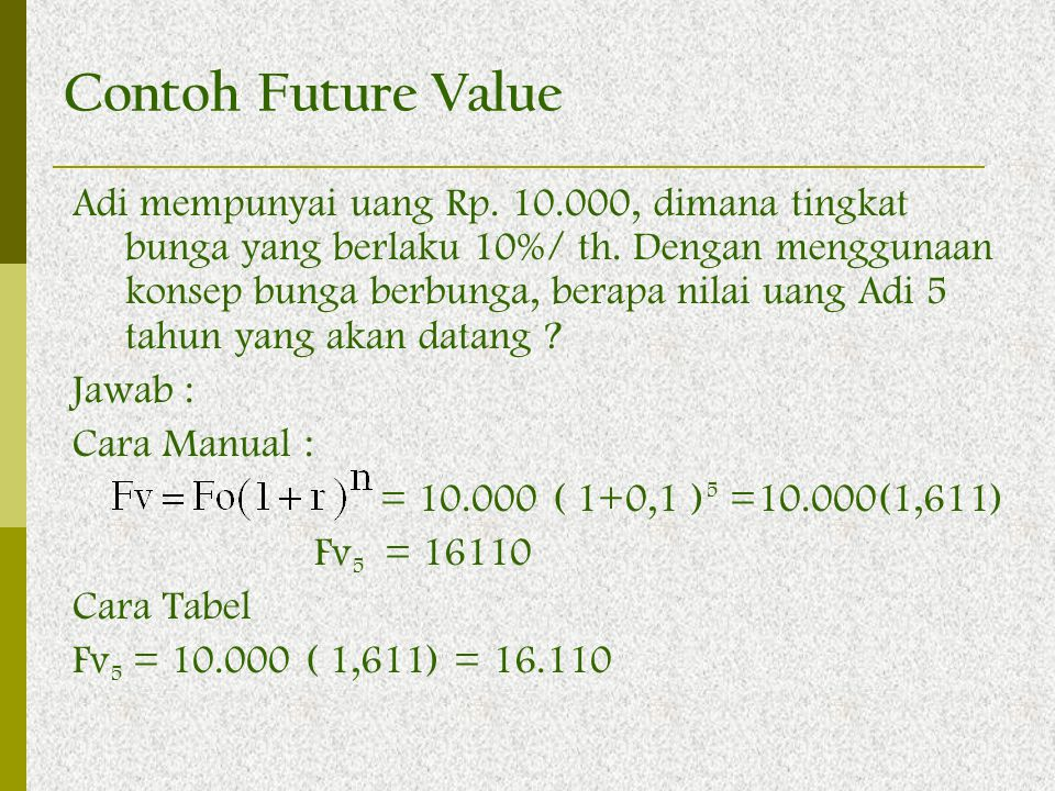 Contoh Future Value