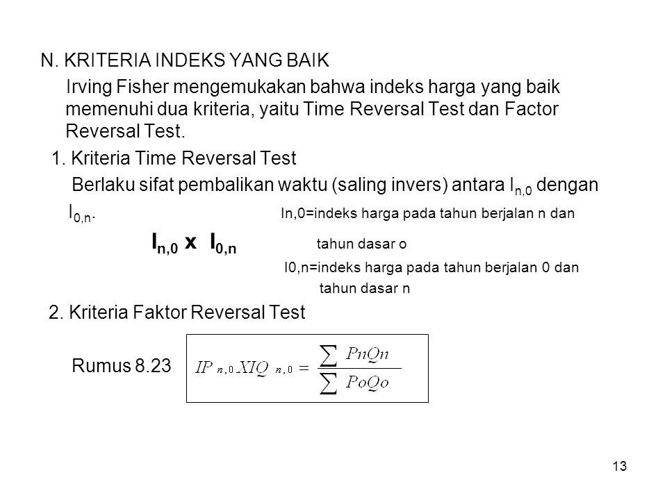 2. Kriteria Faktor Reversal Test