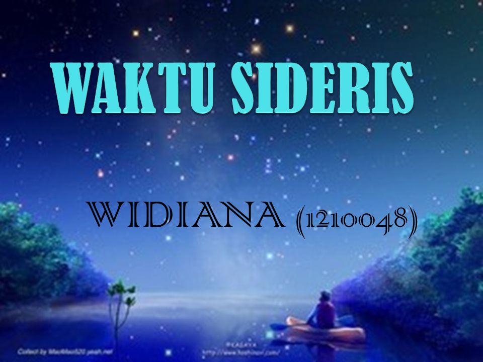 WAKTU SIDERIS WIDIANA (1210048)