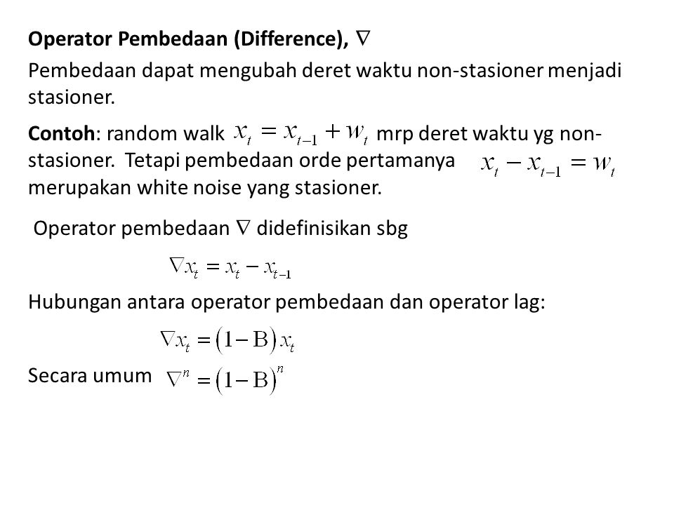 Operator Pembedaan (Difference), 