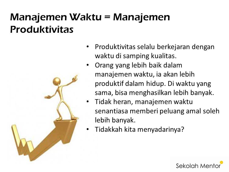 Manajemen Waktu = Manajemen Produktivitas