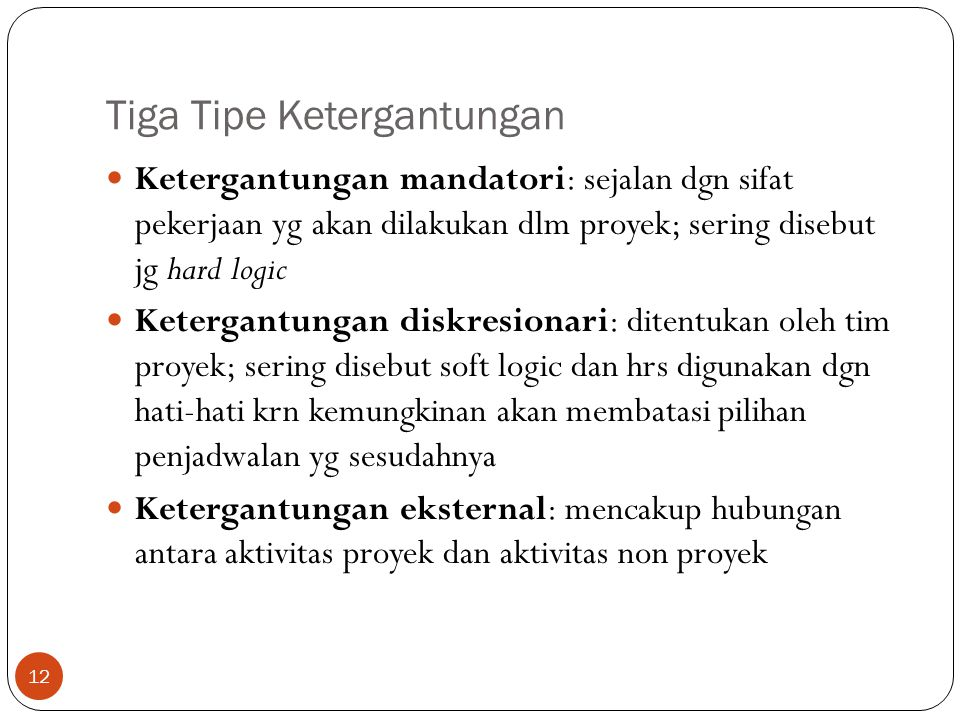 Tiga Tipe Ketergantungan