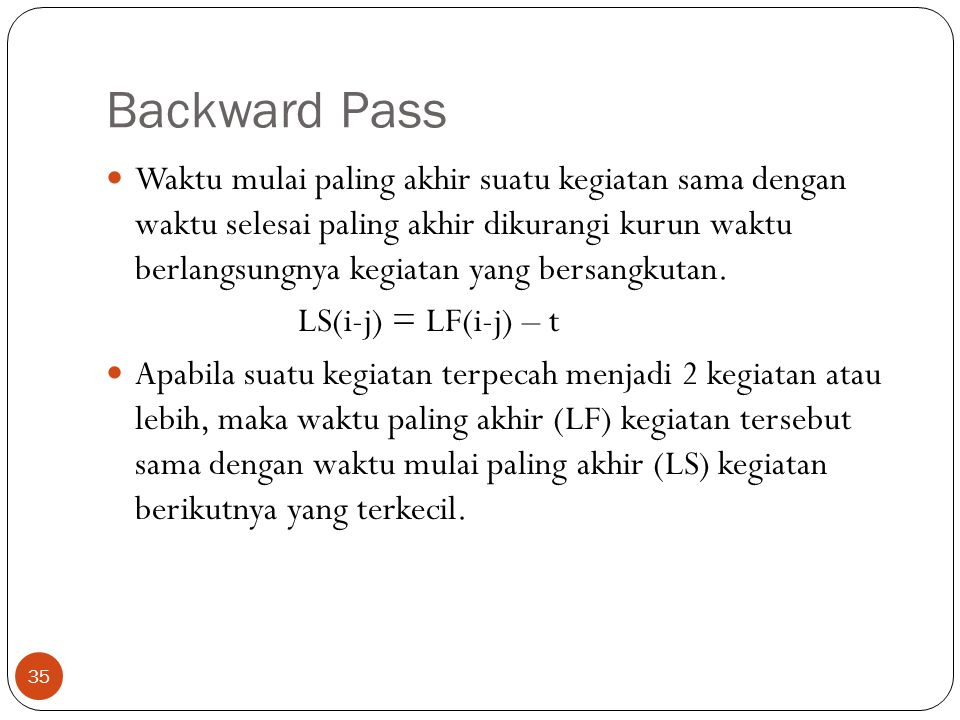 Backward Pass