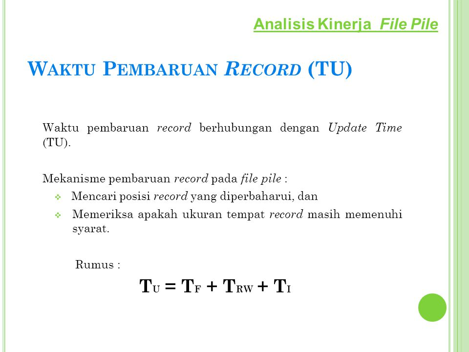 Waktu Pembaruan Record (TU)