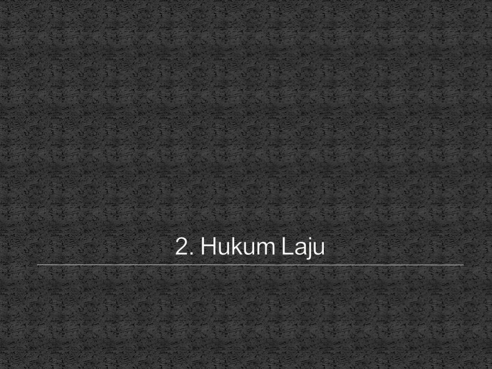 2. Hukum Laju