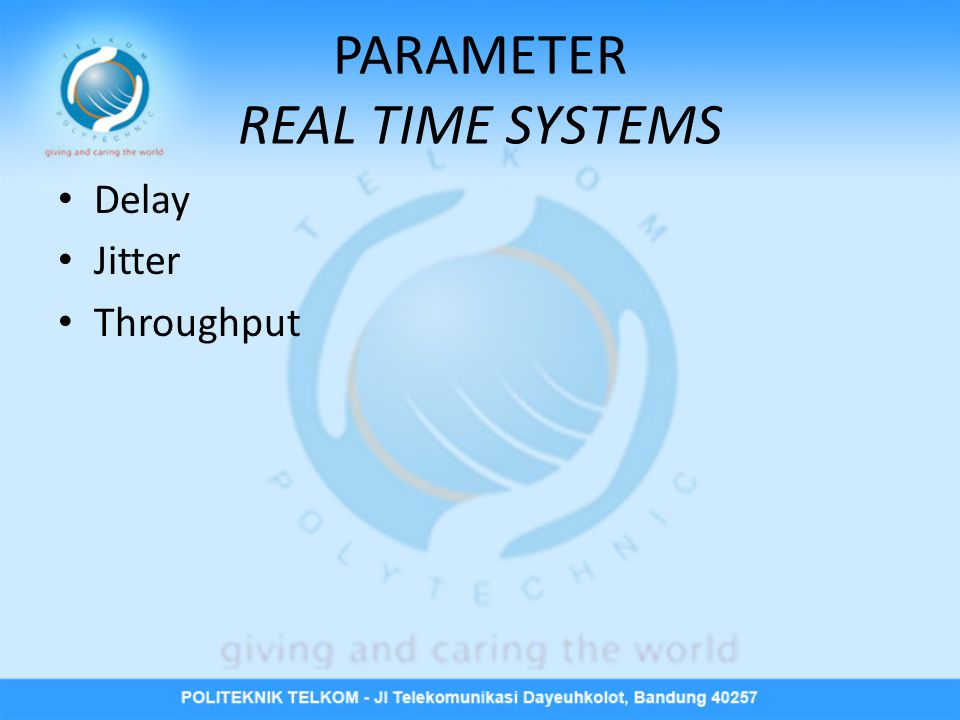 PARAMETER REAL TIME SYSTEMS