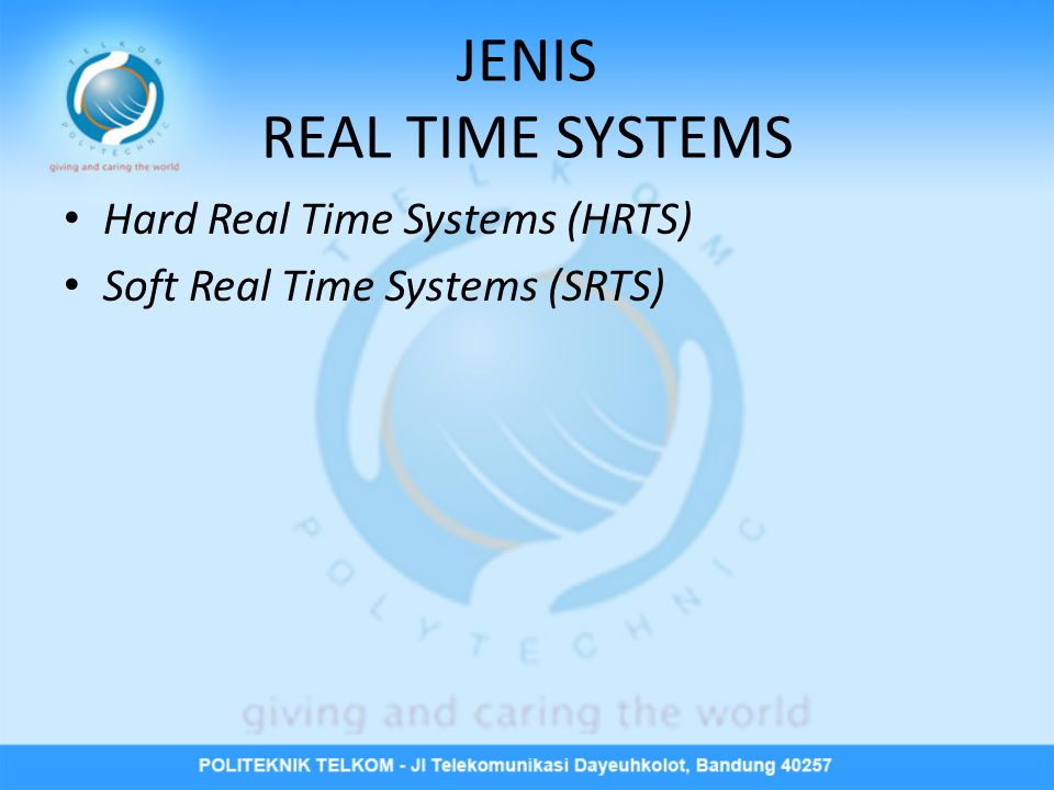 JENIS REAL TIME SYSTEMS