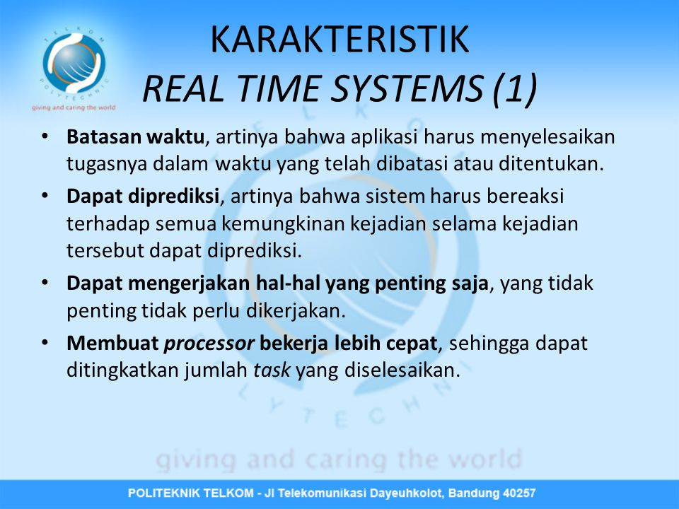 KARAKTERISTIK REAL TIME SYSTEMS (1)