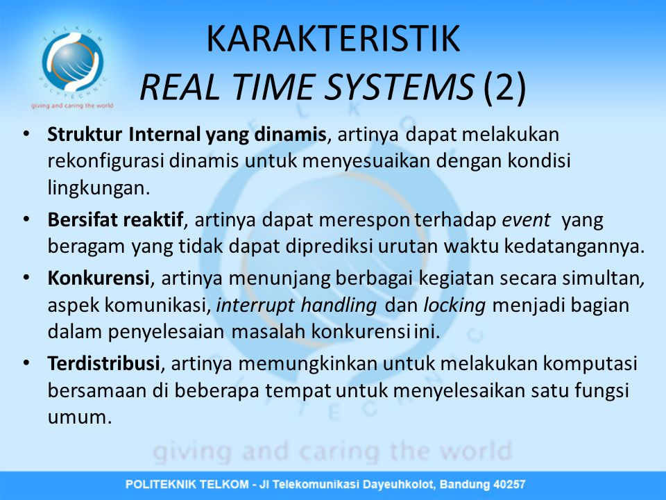 KARAKTERISTIK REAL TIME SYSTEMS (2)