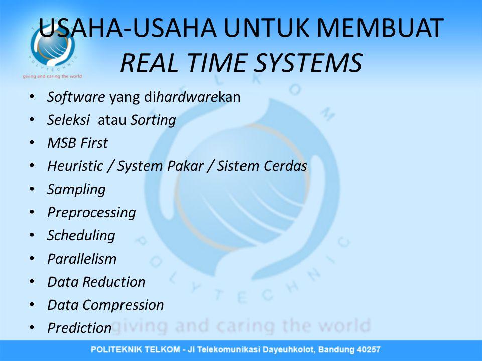 USAHA-USAHA UNTUK MEMBUAT REAL TIME SYSTEMS