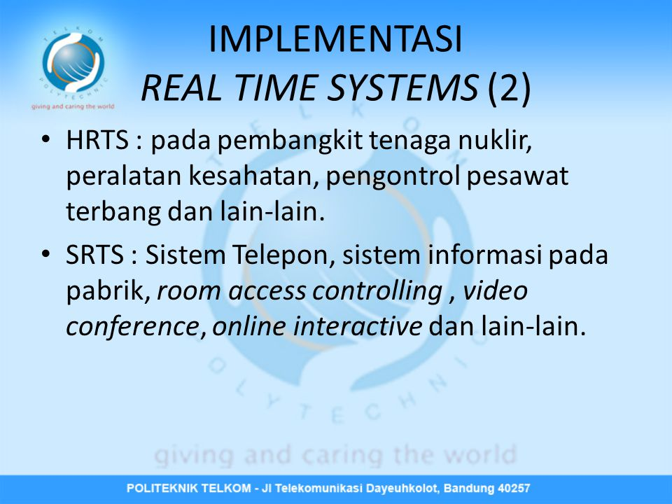IMPLEMENTASI REAL TIME SYSTEMS (2)