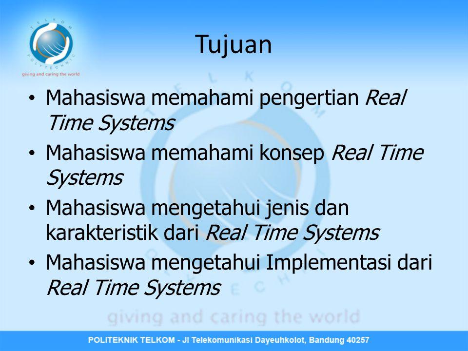 Tujuan Mahasiswa memahami pengertian Real Time Systems