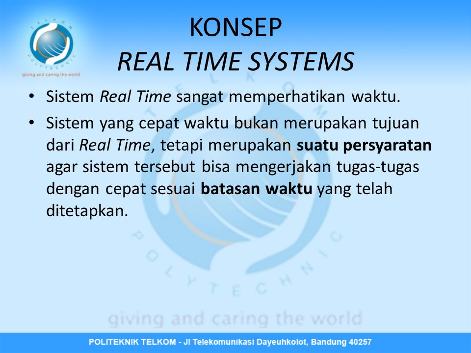 KONSEP REAL TIME SYSTEMS