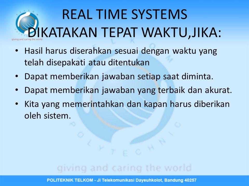 REAL TIME SYSTEMS DIKATAKAN TEPAT WAKTU,JIKA: