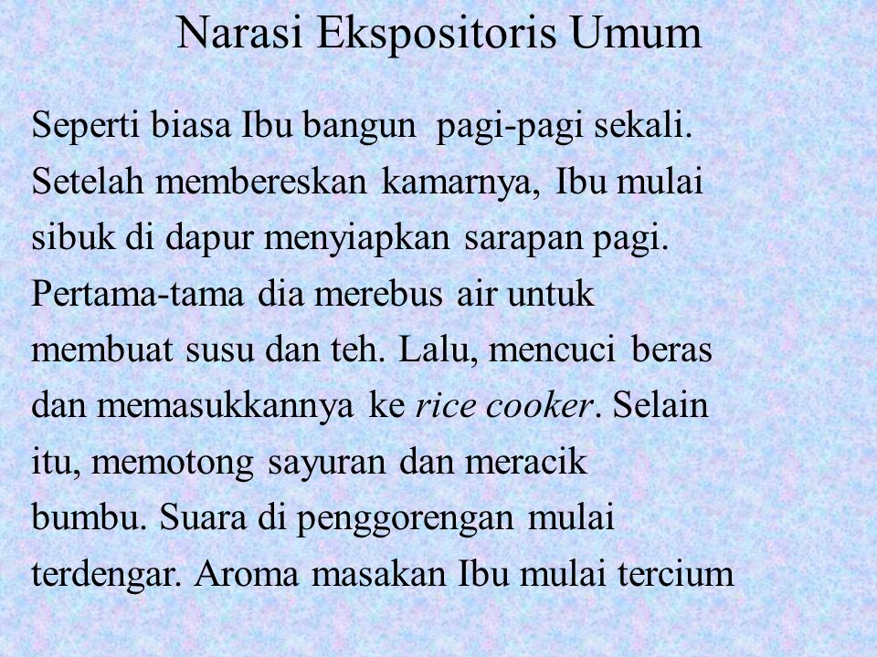 Narasi Ekspositoris Umum