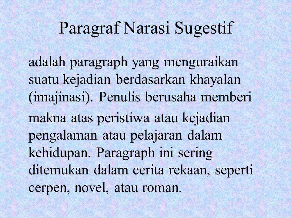 Paragraf Narasi Sugestif